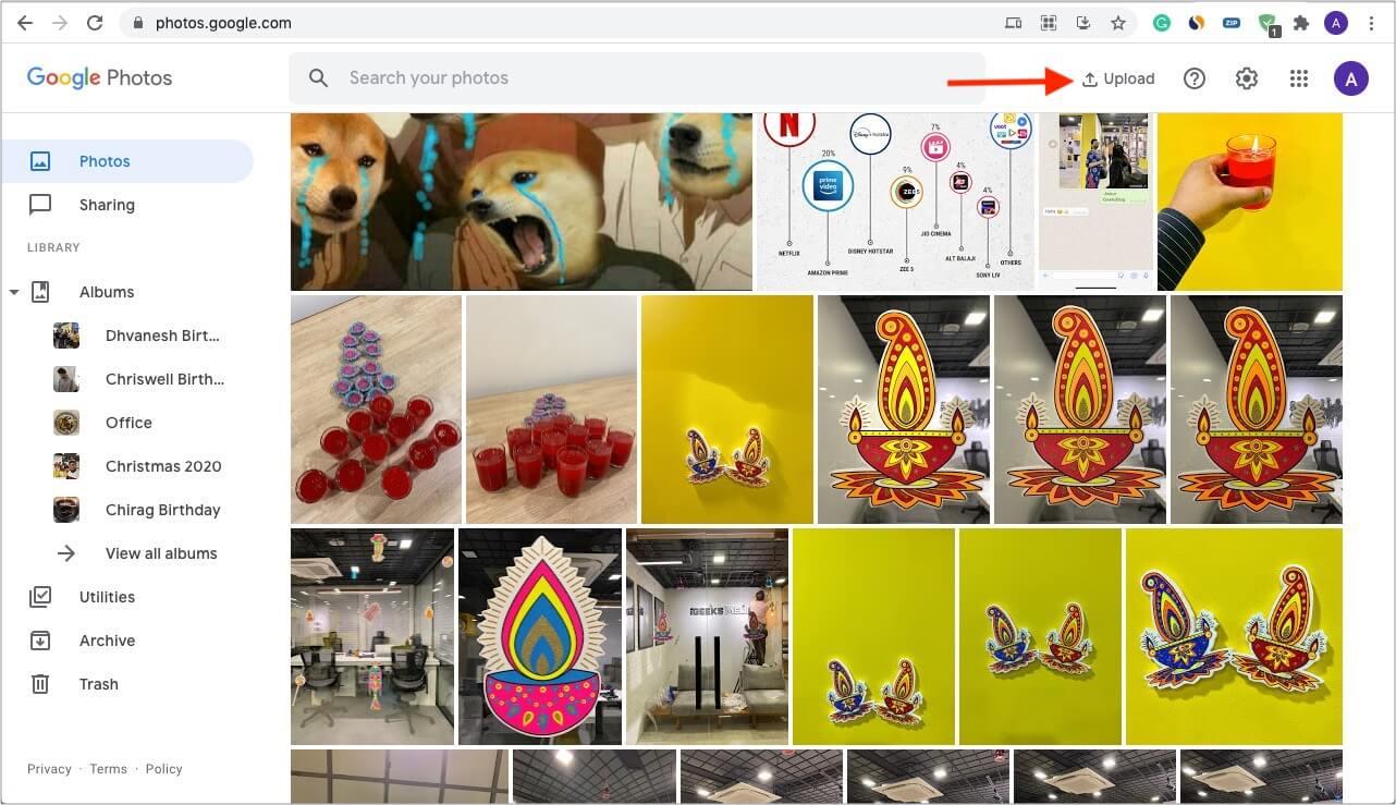 Upload photos and videos to Google Photos