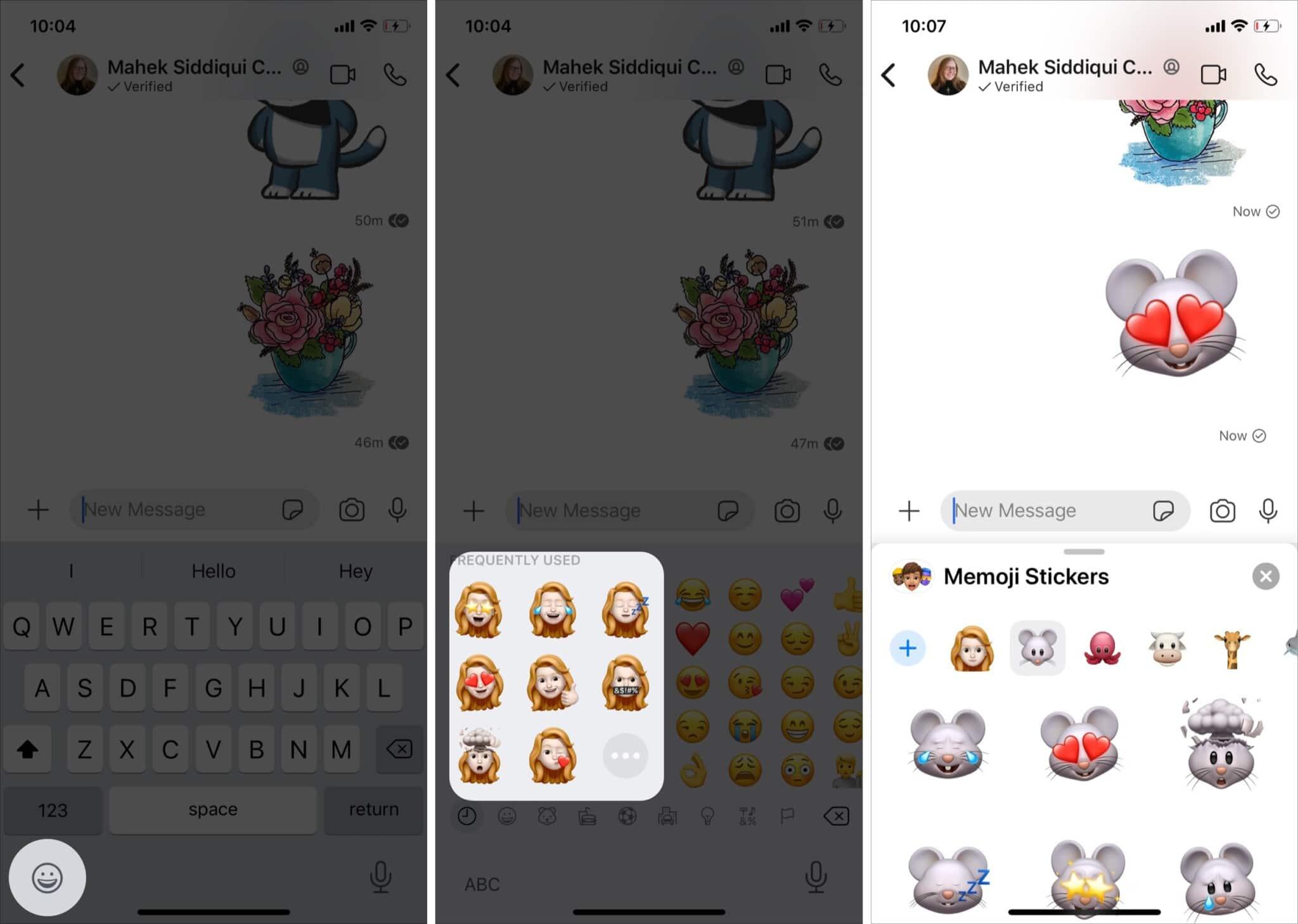 use Memoji stickers in Signal app on iPhone