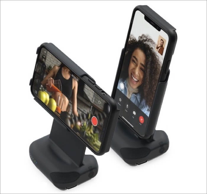 use shiftcam progrip as smartphone dock