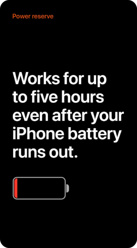 uses of power reserve mode on your iphone