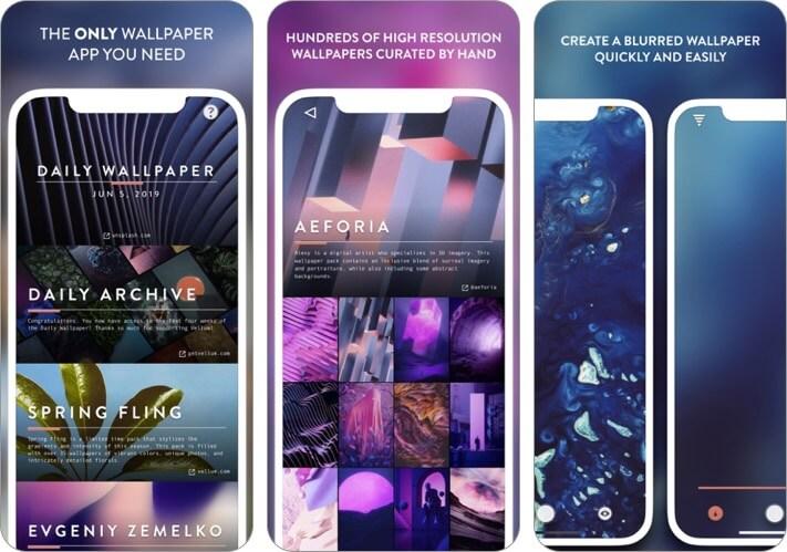 vellum wallpapers iphone app screenshot