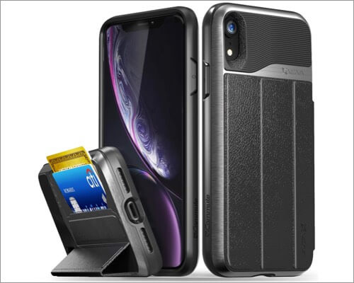 vena military-grade card holder case for iphone xr