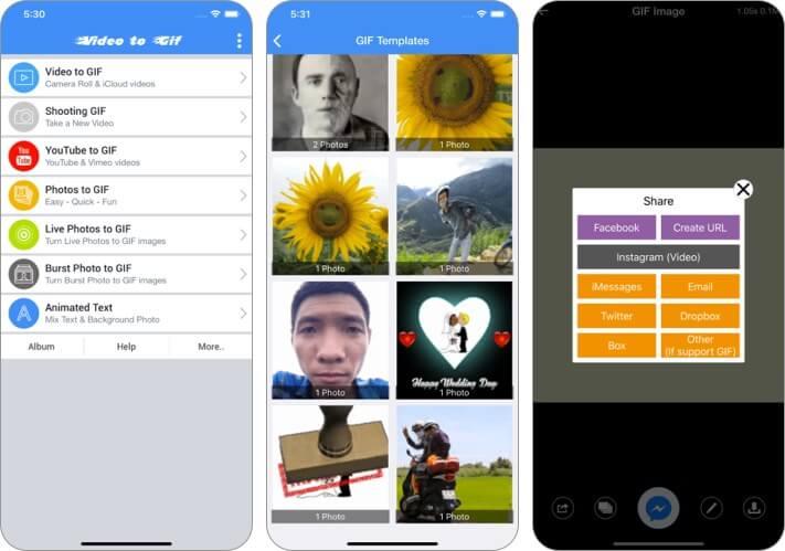 Video to GIF - GIF Maker iPhone and iPad App Screenshot