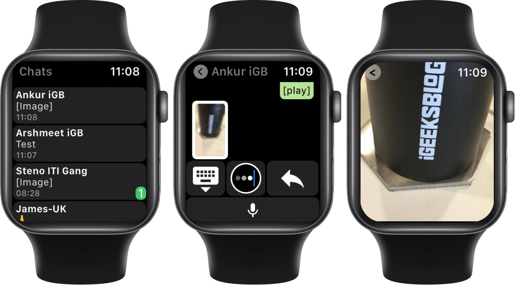 view whatsapp photos and videos on apple watch