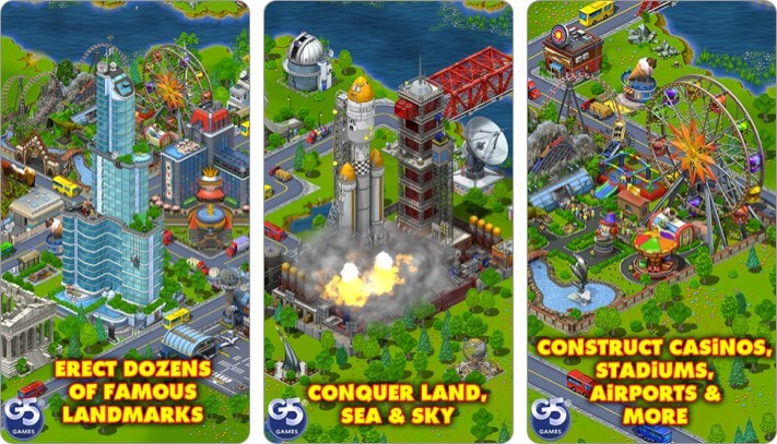 virtual city playground iphone and ipad city building game screenshot