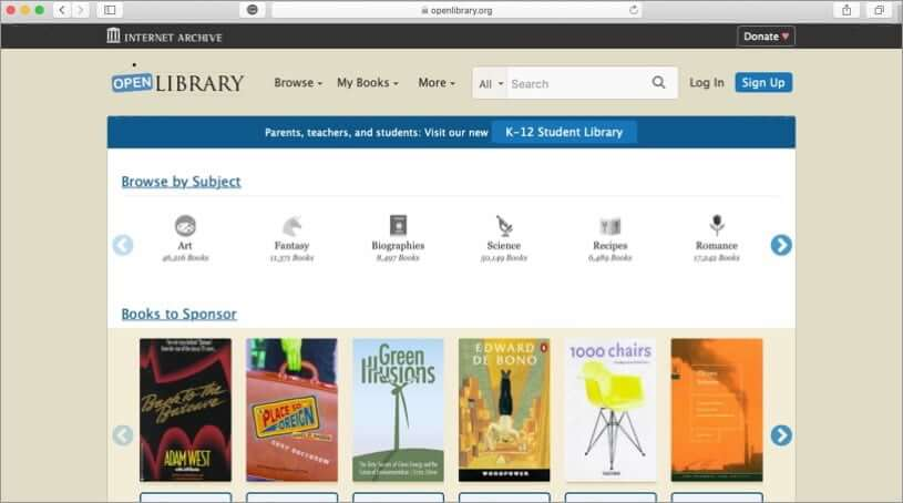 visit open library to download free ebooks
