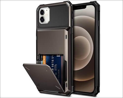 Vofolen Protective Card Holder Case for iPhone 12 Mini