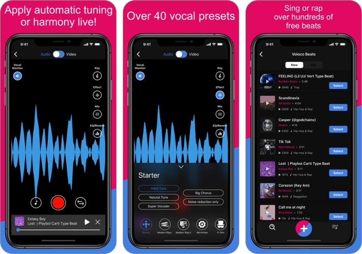 voloco iphone and ipad karaoke app screenshot