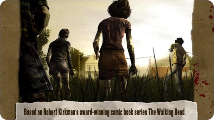 Walking Dead iPhone and iPad Halloween Game Screenshot