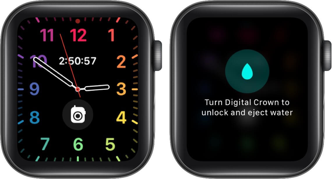 water lock is enabled on apple watch