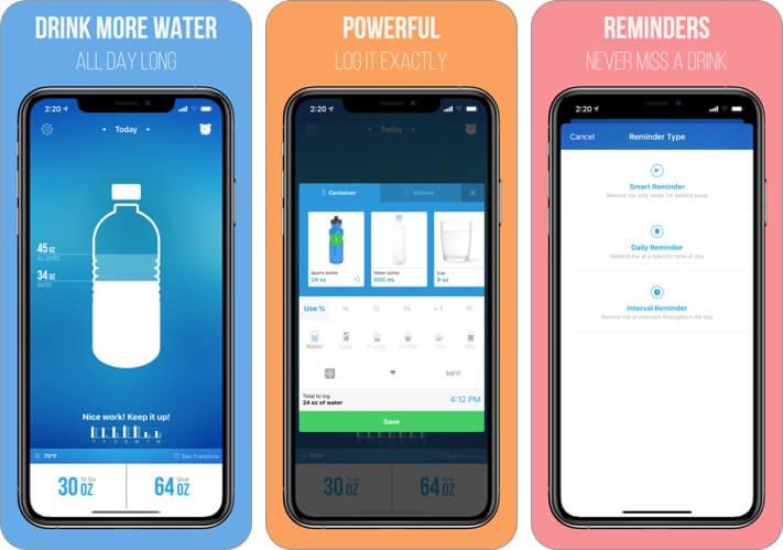 waterlogged iphone health app screenshot