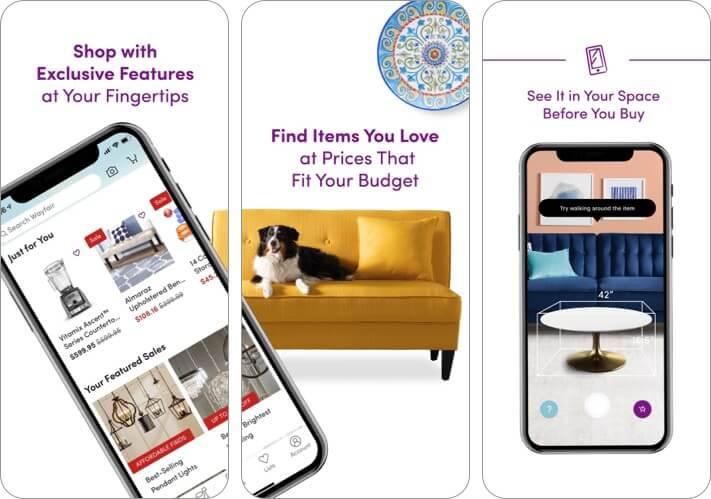 Wayfair Shop All Things Home iPhone and iPad Interior Design App Screenshot