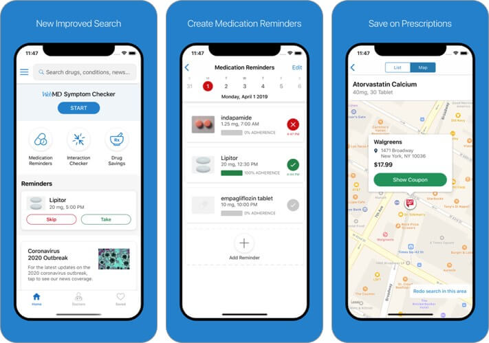 webmd iphone health app screenshot