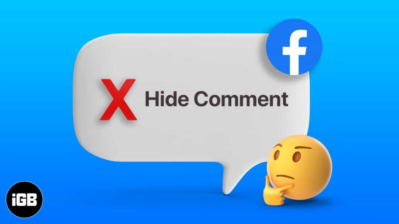 What happens when you hide a comment on Facebook
