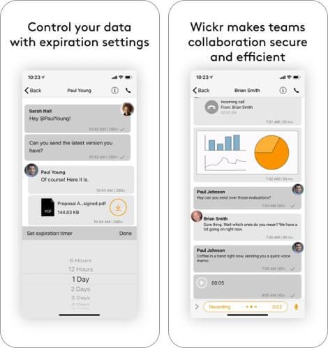 Wickr iPhone App Screenshot