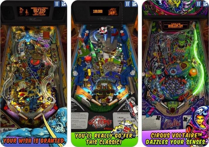 williams pinball iphone and ipad game screenshot