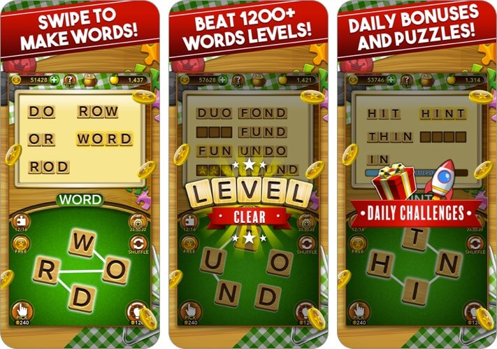Word Collect iPhone and iPad Game Screenshot