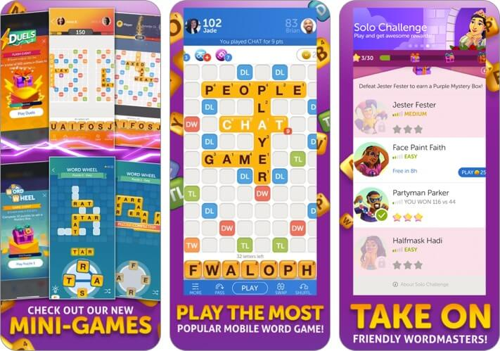 words with friends 2 iphone and ipad multiplayer game screenshot