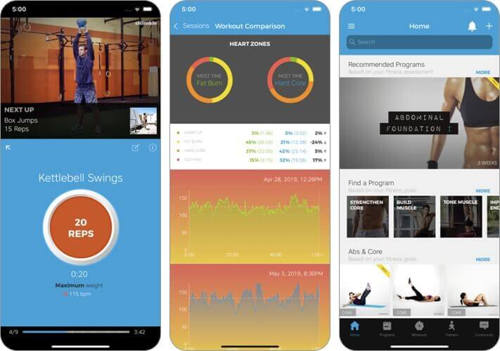 workout trainer iphone and ipad weight loss app screenshot