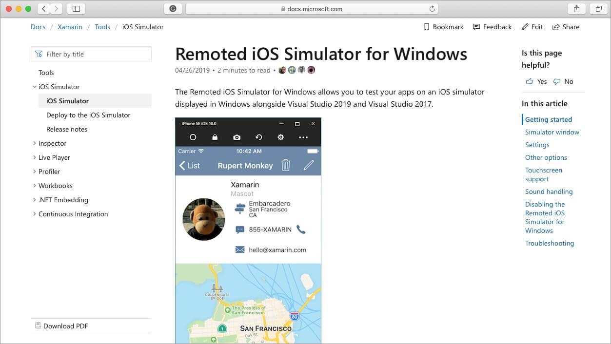 xamarin remoted ios Simulator for mac and windows pc