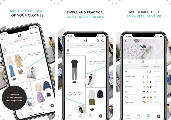 XZ(Closet) iPhone and iPad App Screenshot