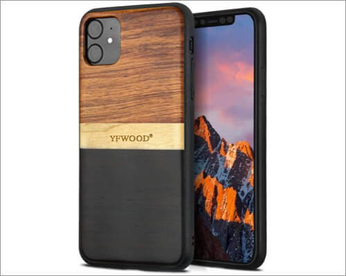 yfwood wooden cover for iphone 11