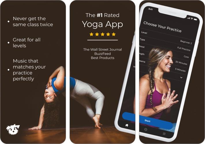 yoga down dog iphone app screenshot