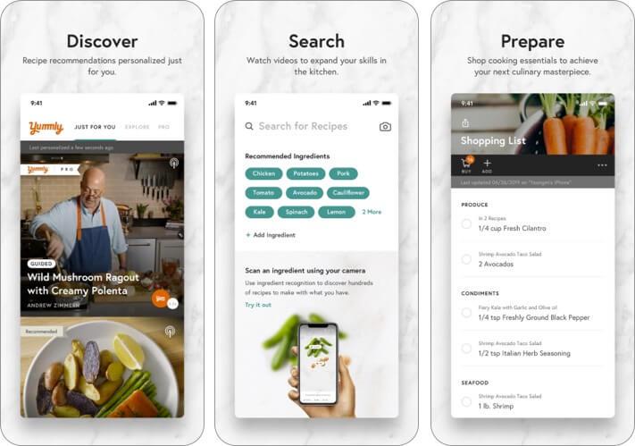 Yummly iPhone and iPad Recipe App Screenshot