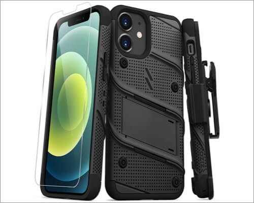 ZIZO Bolt Series Belt Clip Case for iPhone 12 Pro Max and 12 Mini