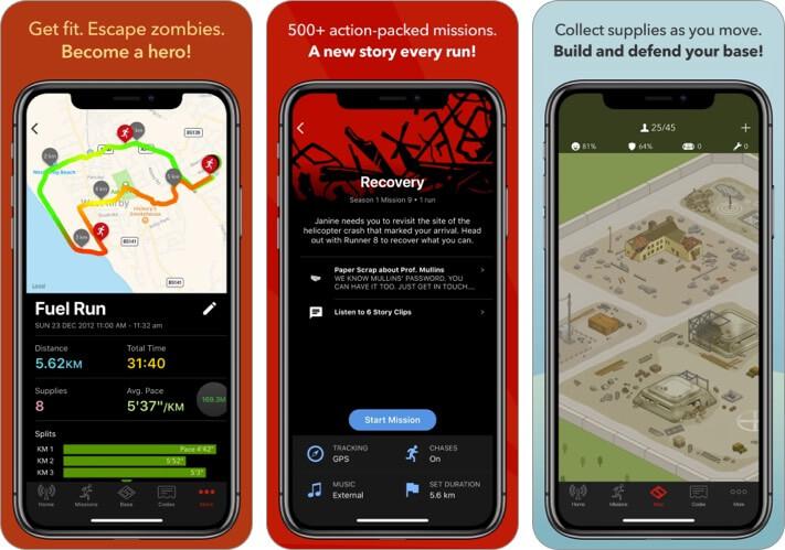 Zombies Run iPhone and iPad Halloween Game Screenshot