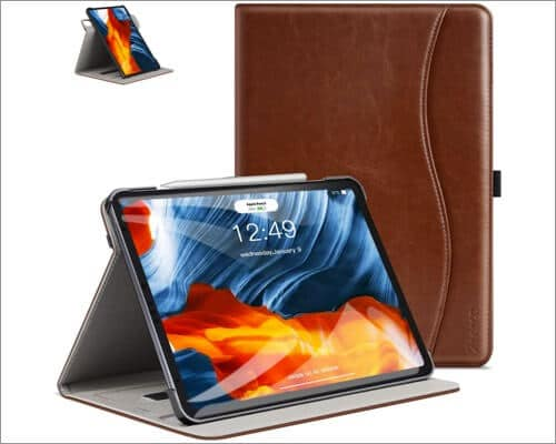 ztotopcase leather folio case for 10.9 inch ipad air 4th gen