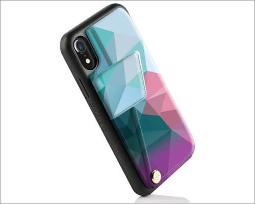 zvedeng iphone xr card holder case