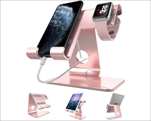zveproof apple watch and iphone charging stand