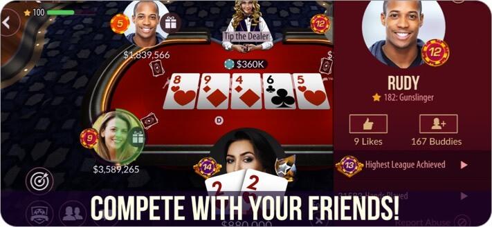 Zynga Poker iPhone and iPad Card Game Screenshot