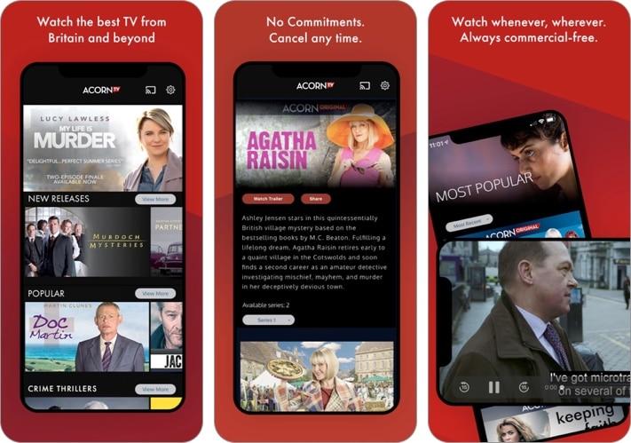 Acorn TV iPhone and iPad app