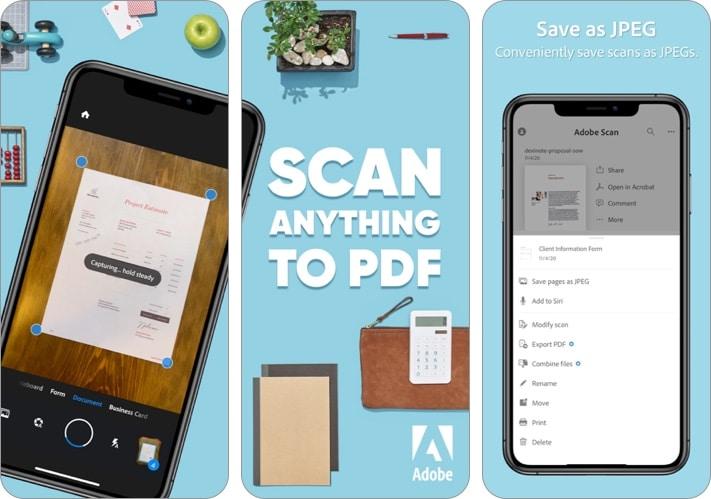 Adobe Scan- Mobile PDF Scanner iPhone and iPad app screenshot