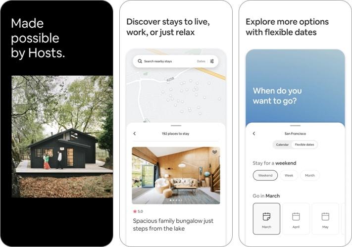 Airbnb iPhone and iPad app screenshot