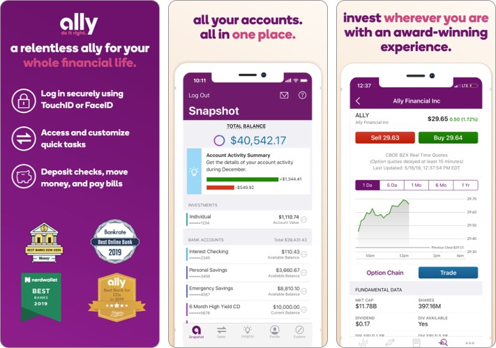 ally best stock trading app for iPhone