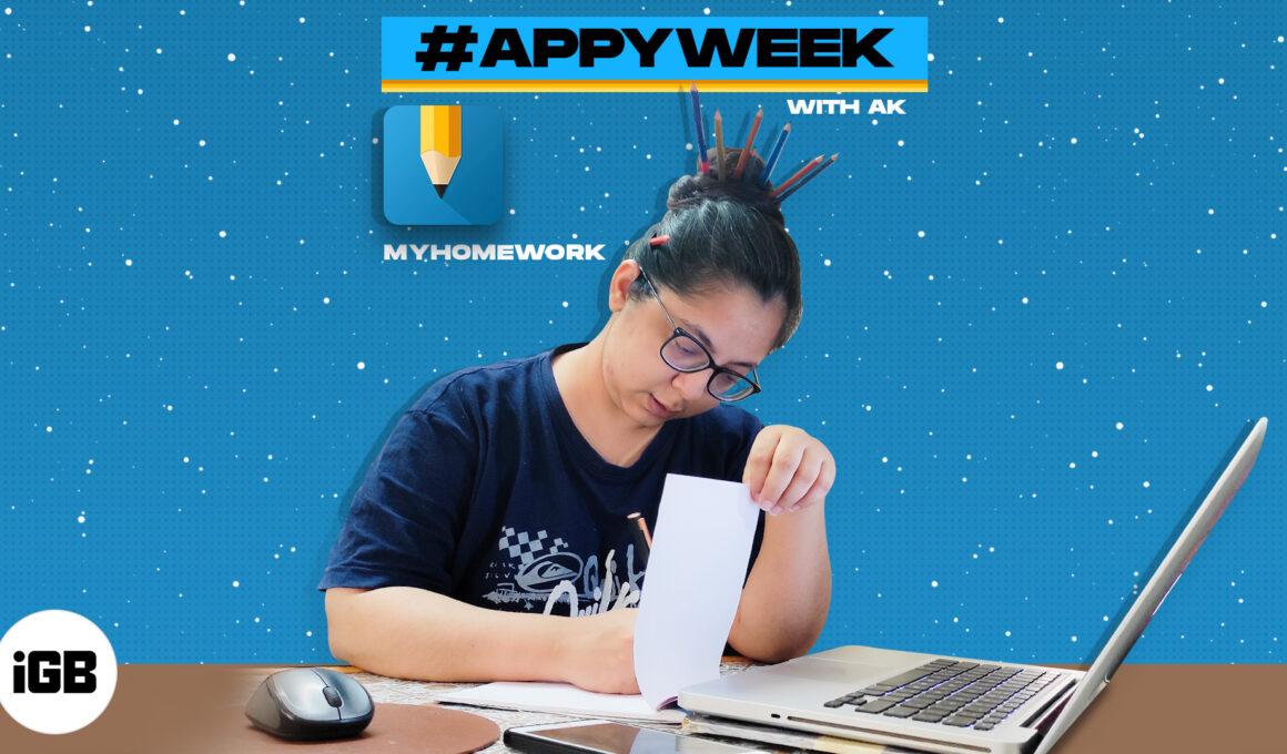 App of the week Homework iOS app review