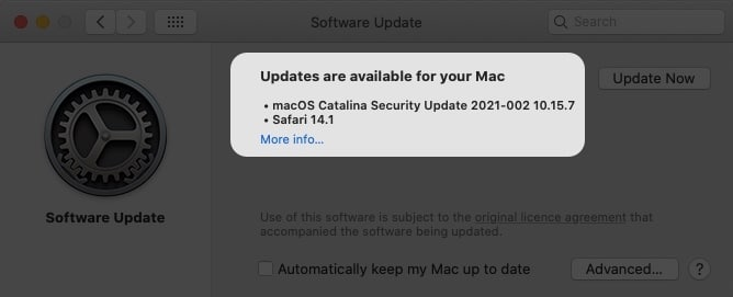 Check for new updates on Mac