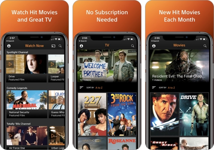 Crackle - Movies, TV iPhone and iPad app