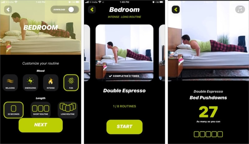 Customize your routine with Wakeout iOS app