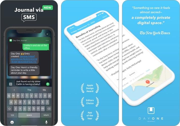 Day One Journal iPhone and iPad app screenshot