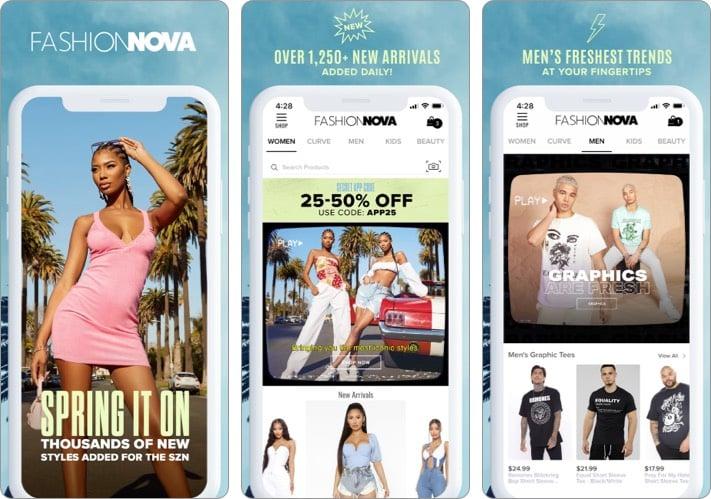 Fashion Nova best shopping app for iPhone