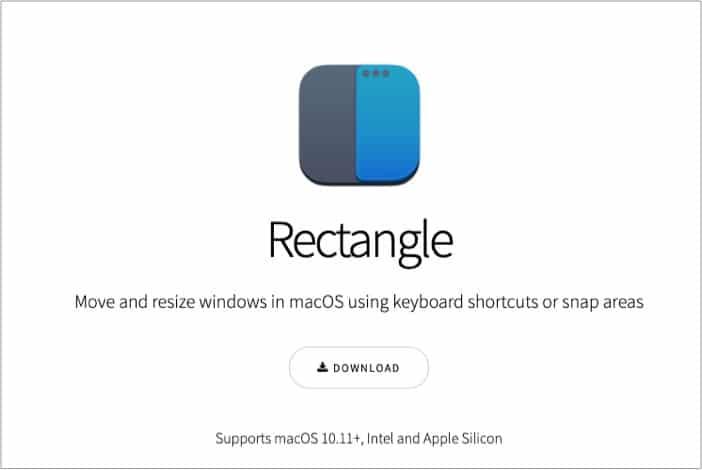 Используйте приложение Rectangle в многооконном режиме на iMac