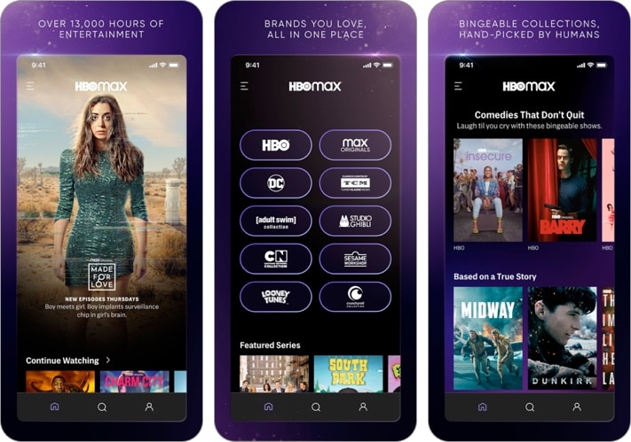 HBO Max- Stream TV, Movies iPhone and iPad app