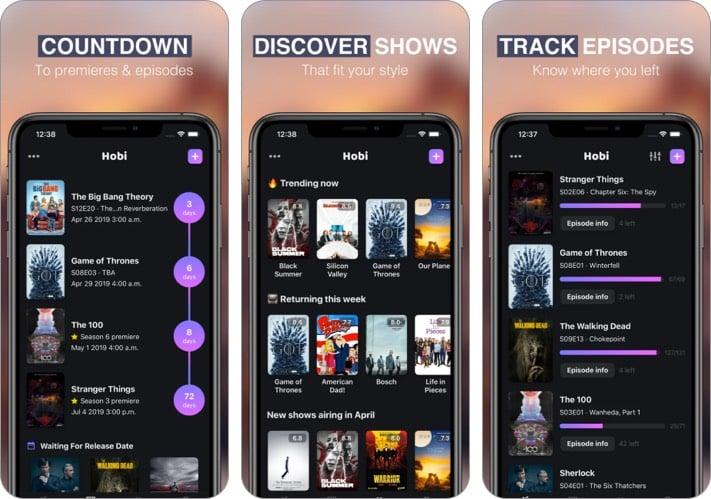 Hobi Time iPhone App zum Verfolgen von TV-Sendungen