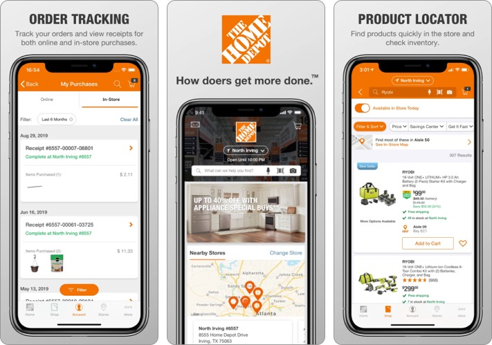 Home Depot best shopping app for iPhone