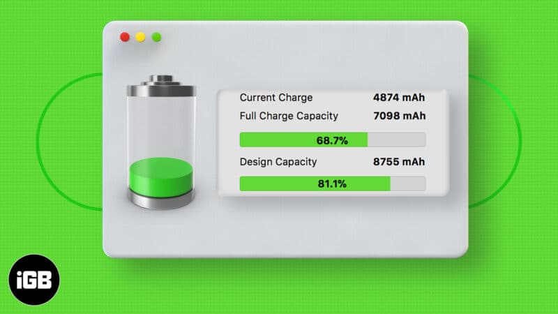 How to check battery health on MacBook