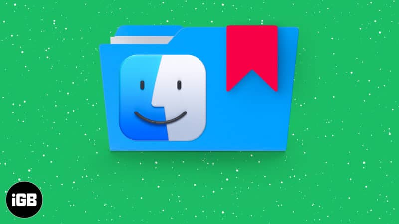 How to bookmark a folder in Finder on Mac